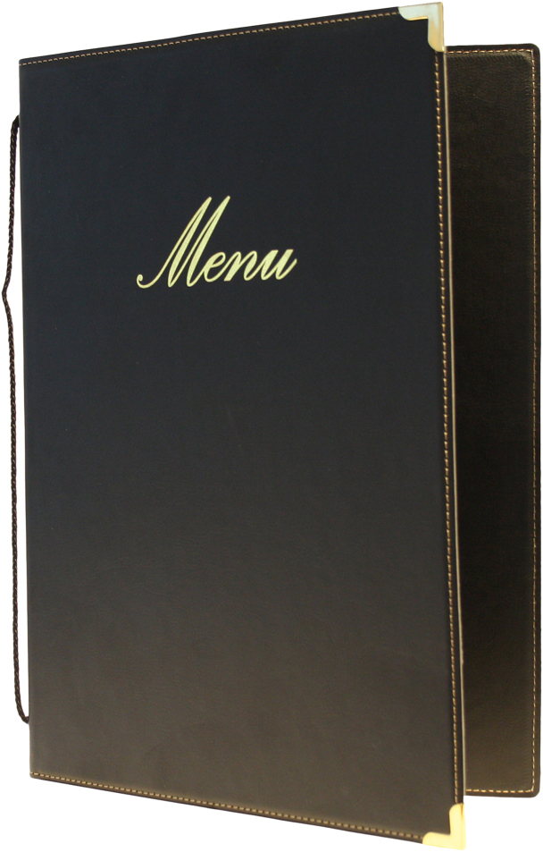 Classic A5 Menu Holder Black 4 Pages