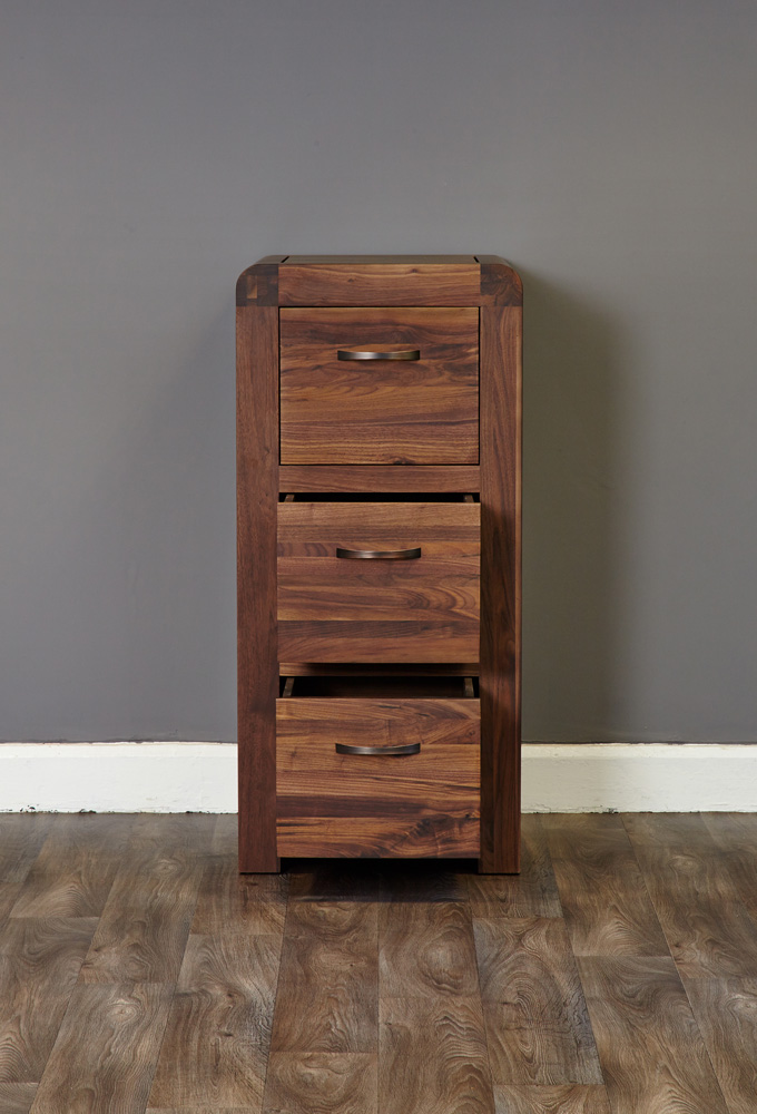 SHIRO - WALNUT 3 DRAWER FILING CABINET