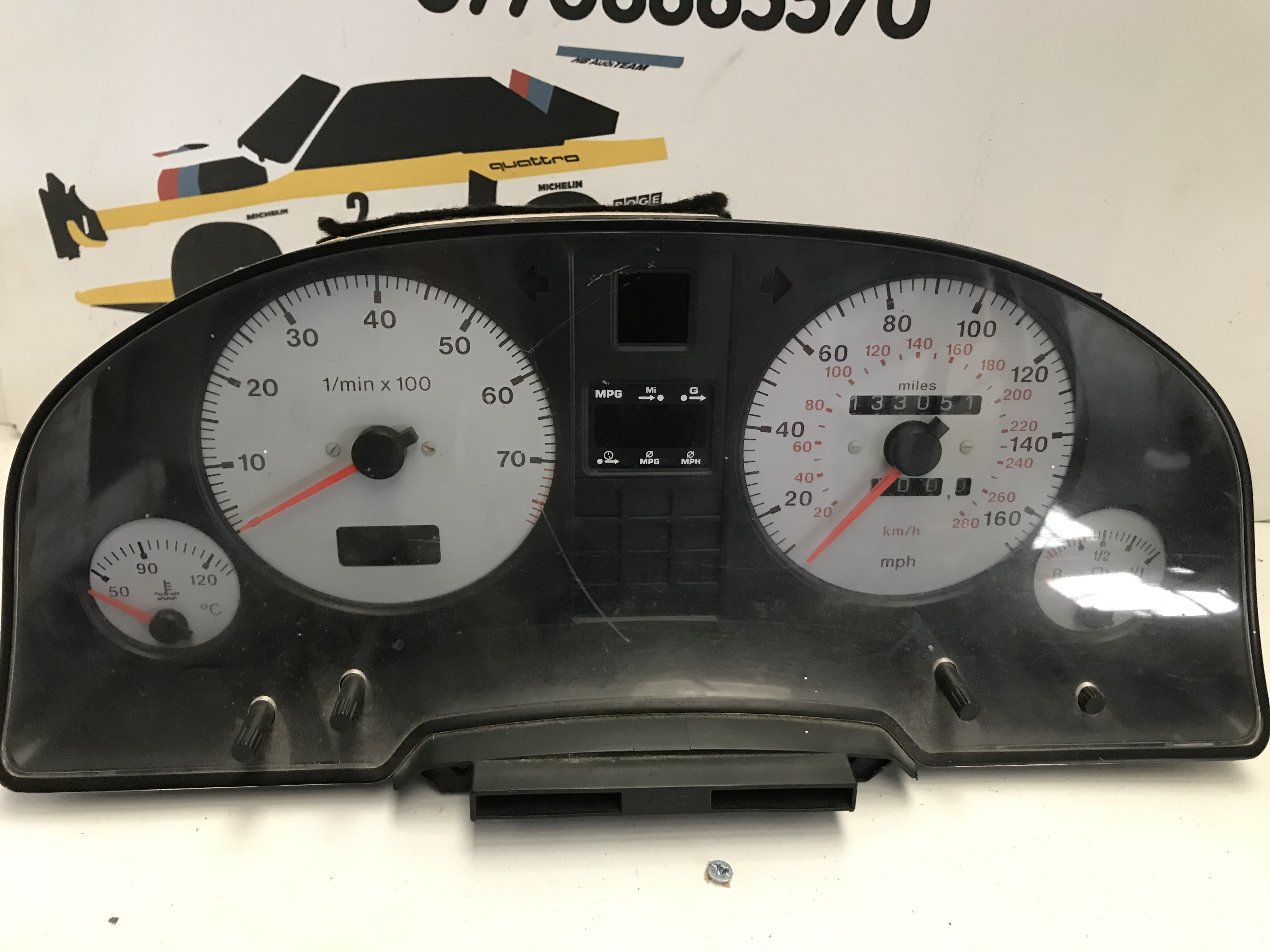 Audi s2 speedometer white gauges and computer