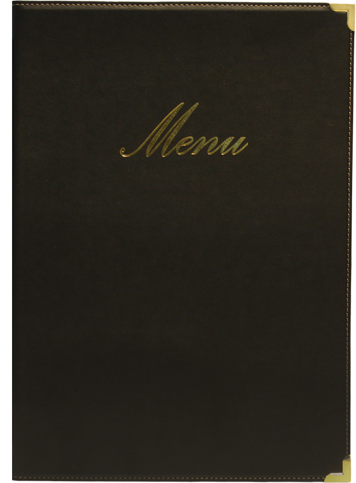 Classic A4 Menu Holder Black 4 Pages
