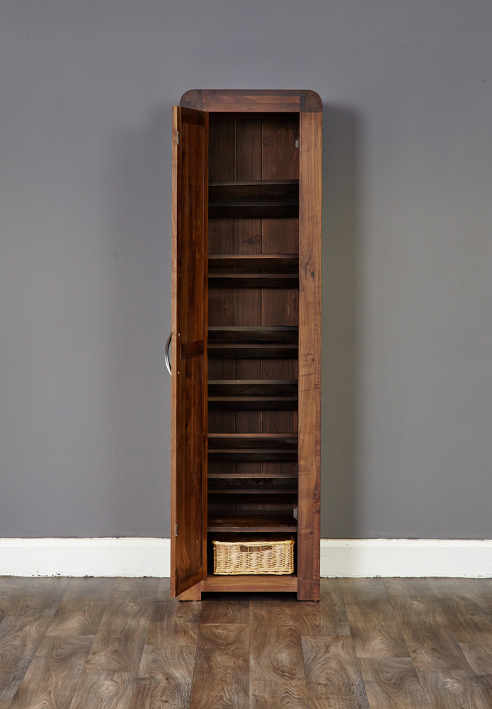 SHIRO - WALNUT TALL SHOE CUPBOARD