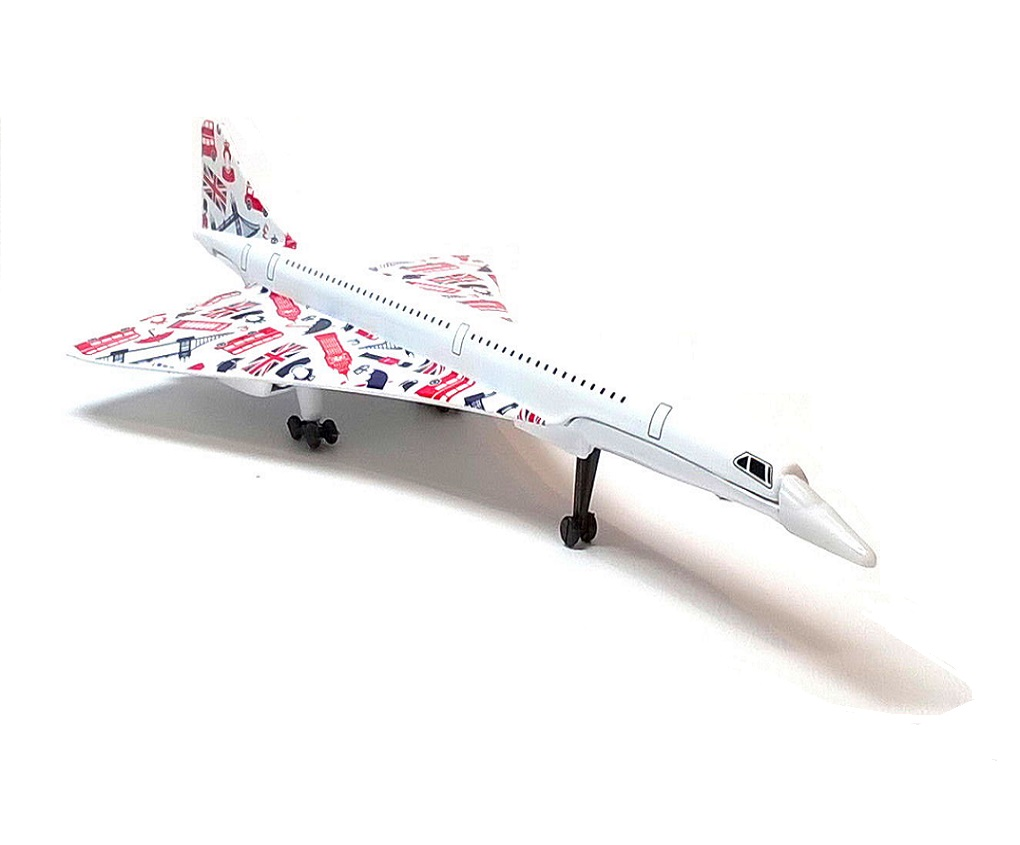 Best of British CONCORDE - Fit The Box Die-cast Aircraft Plane Model Corg