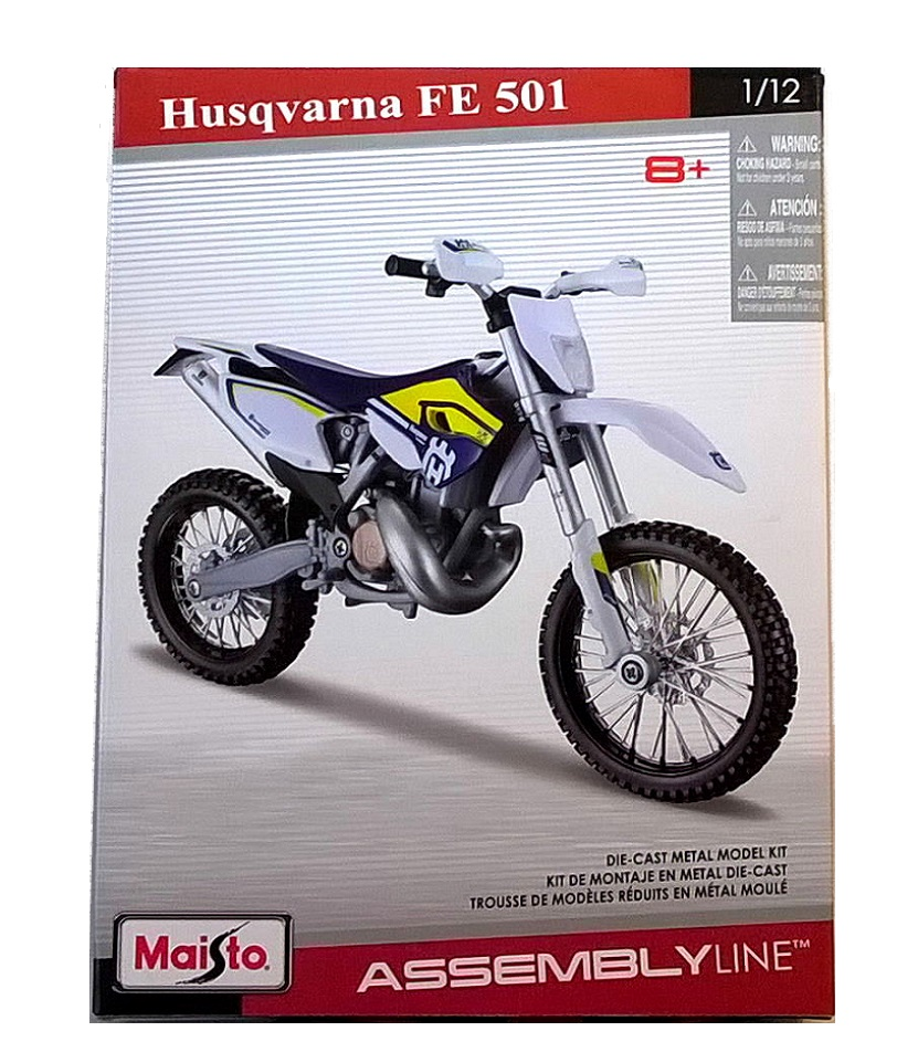 HUSQVARNA FE 501 - 1:12 Die-Cast Motorbike Model Kit by Maisto