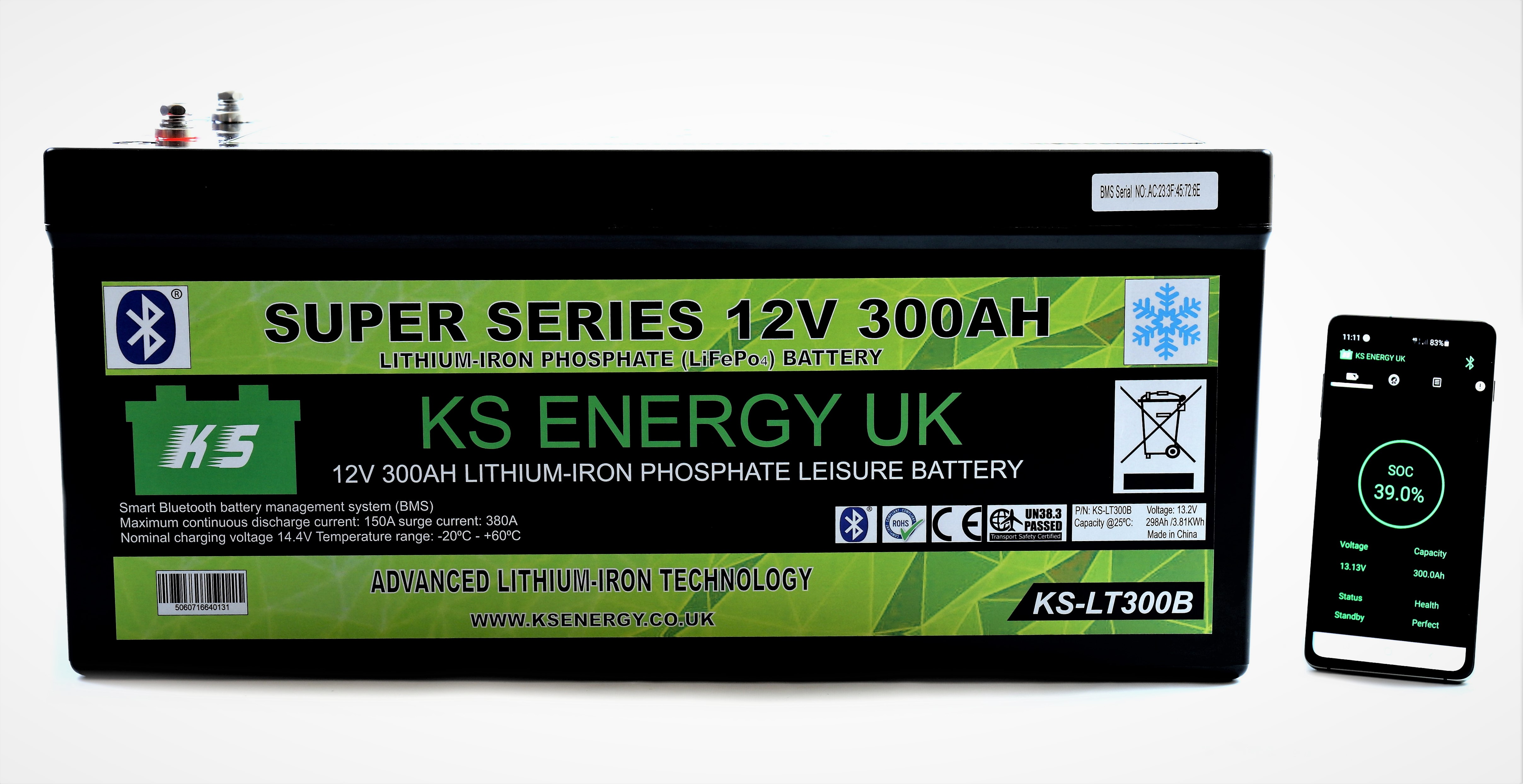 6): KS-LT300B 12v 300AH Bluetooth High Power LiFePo4 lithium leisure battery