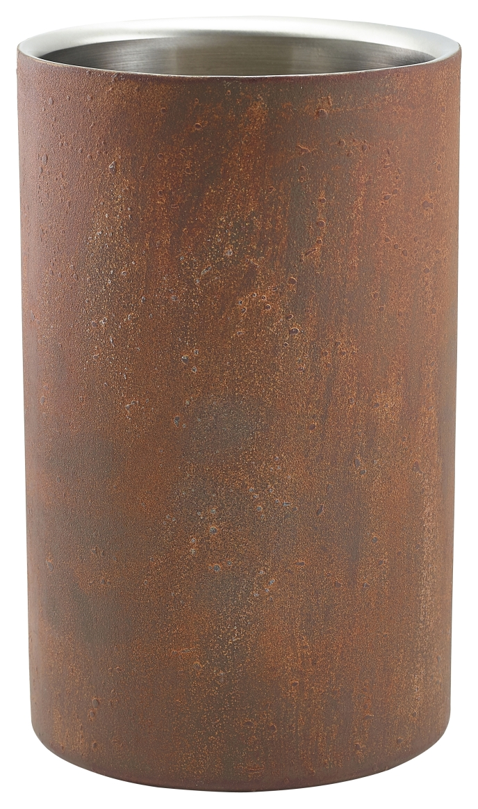 Rust Effect Wine Cooler 12cm Dia x 20cm High