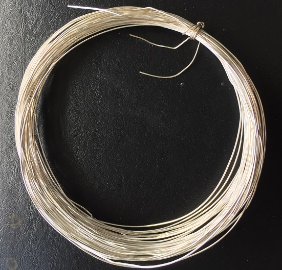 Silver plated copper wire 0.5mm thick 10 metres roll