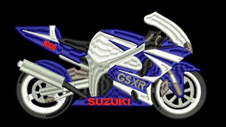 Suzuki gsxr embroidered embroidery clothing