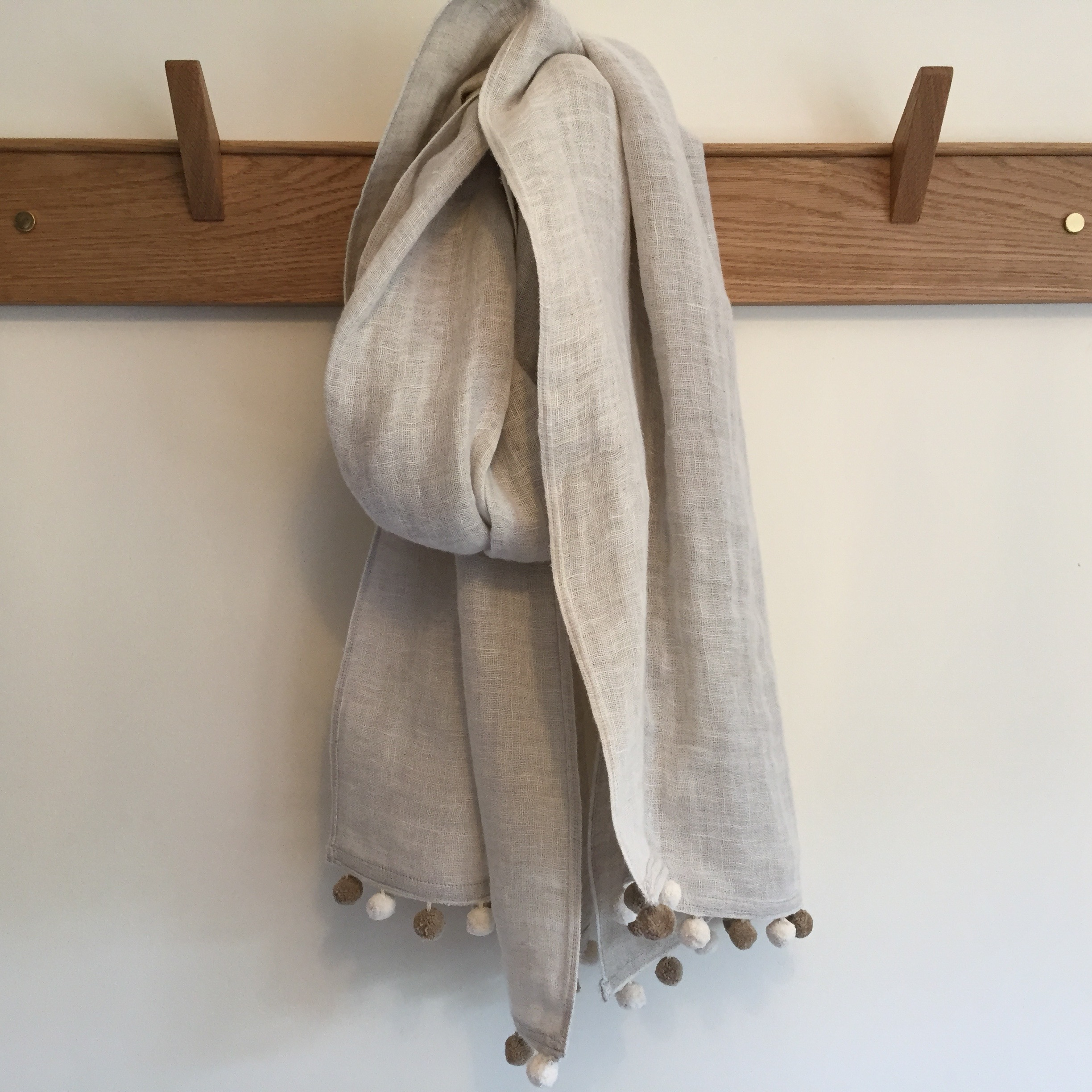 Double Layered Linen Scarf