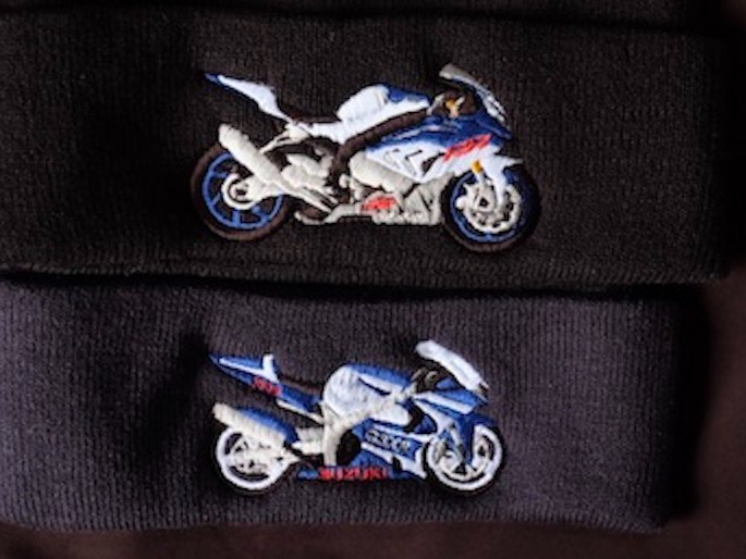 bmw gsxr logo embroidered embroidery clothing jackets polos
