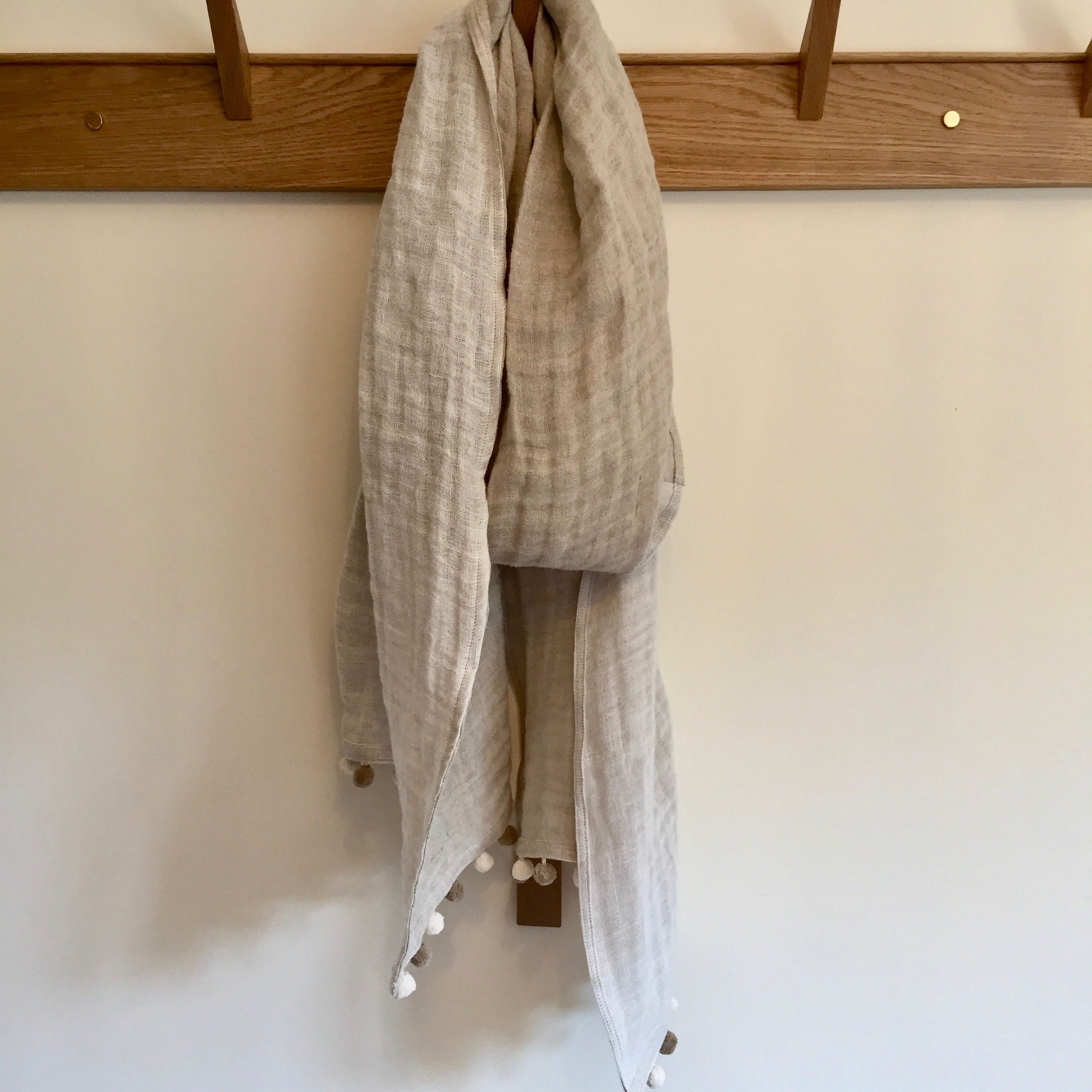 Extra Long Double Layered Linen Scarf
