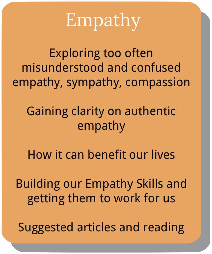 Information about course module 3. Empathy.