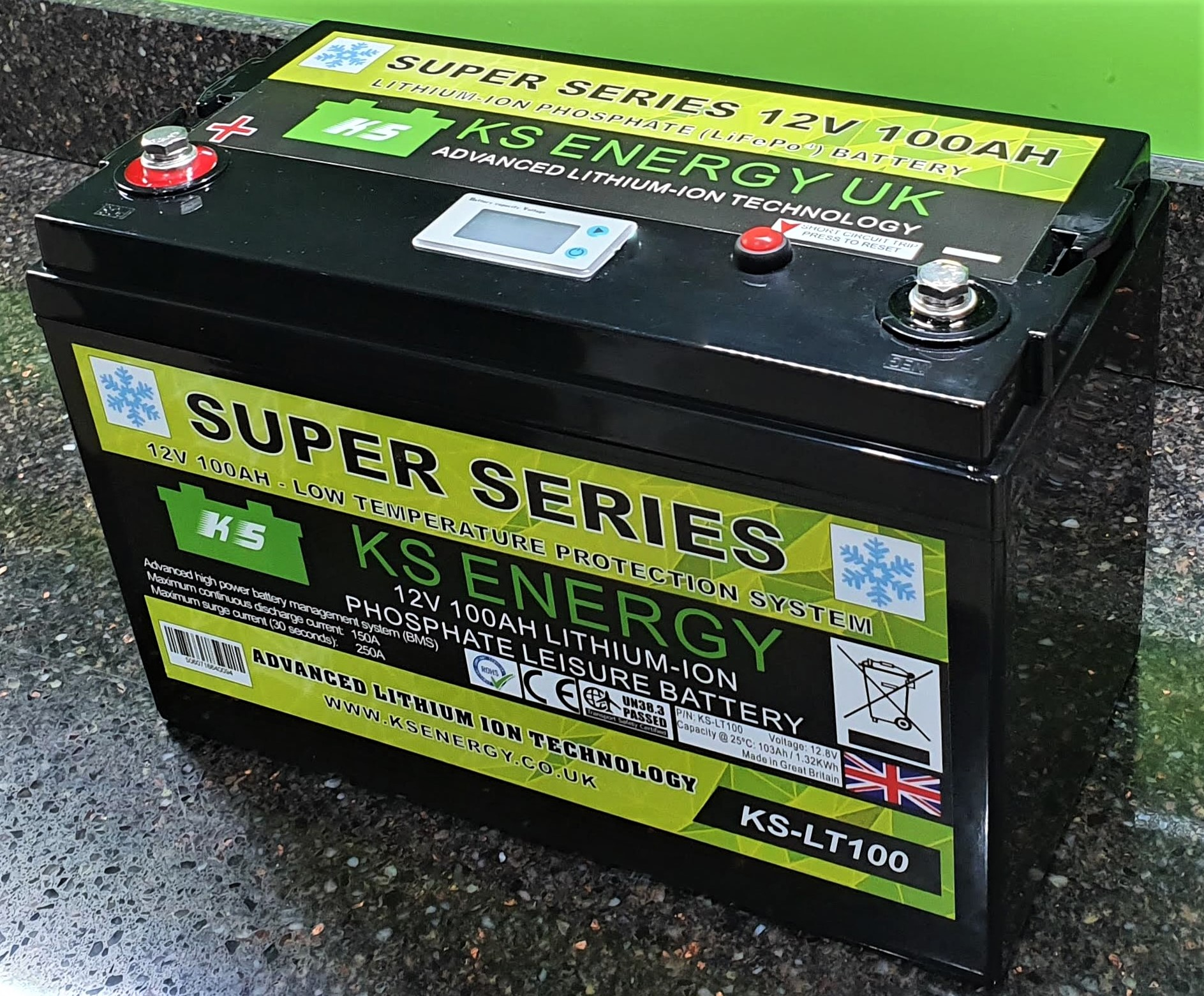 Model KS-LT100 12V 100AH Low Temperature protected High Current lithium battery