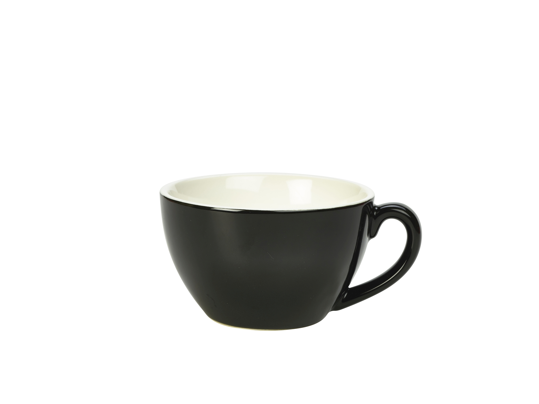 Genware Porcelain Bowl Shaped Cup 34cl Black