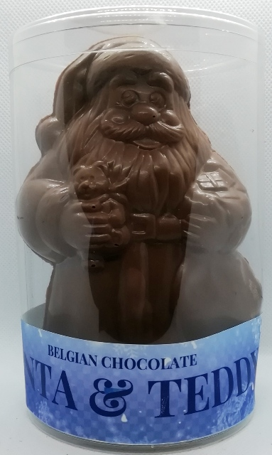 BELGIAN MILK CHOCOLATE SANTA & TEDDY 210G