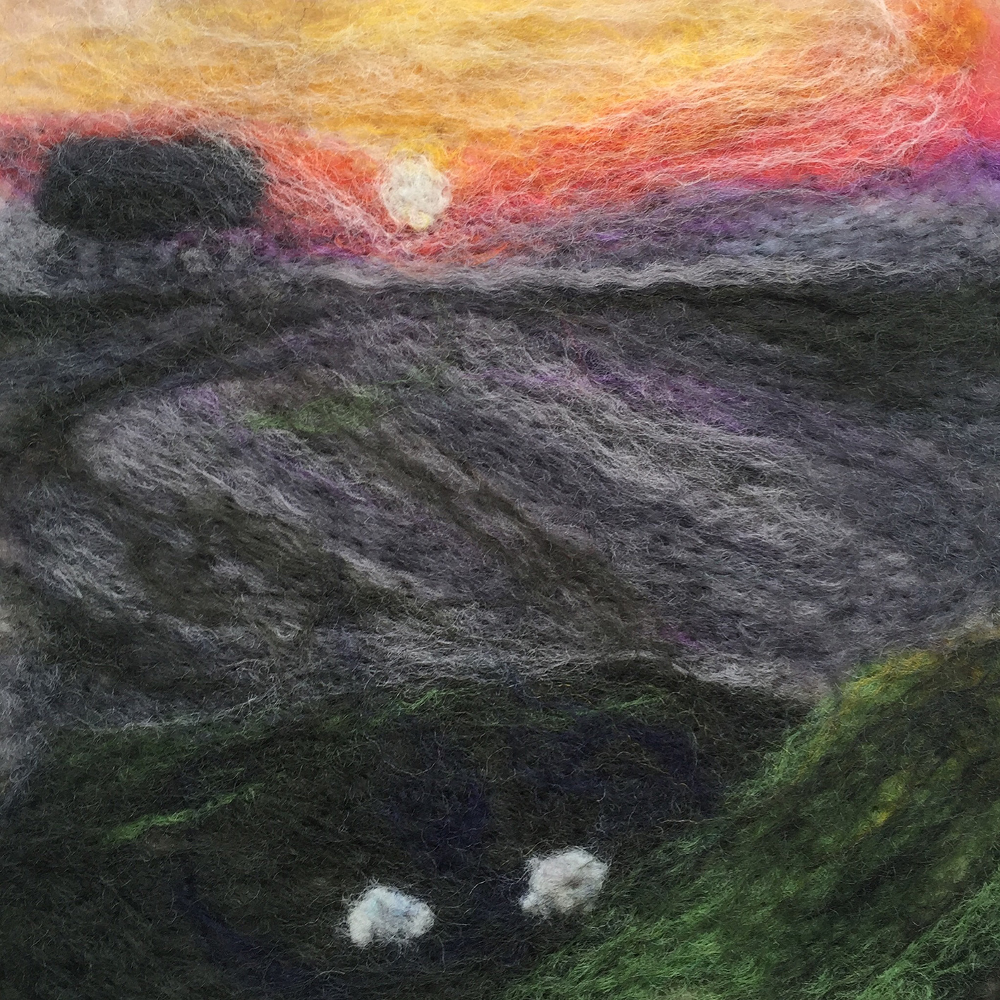 15cm small picture - needle then wet felted