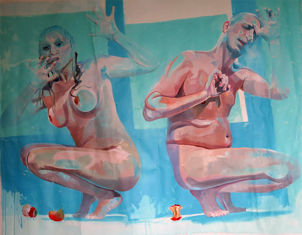 Oil (underpainting) on canvas  150 x 115 cm