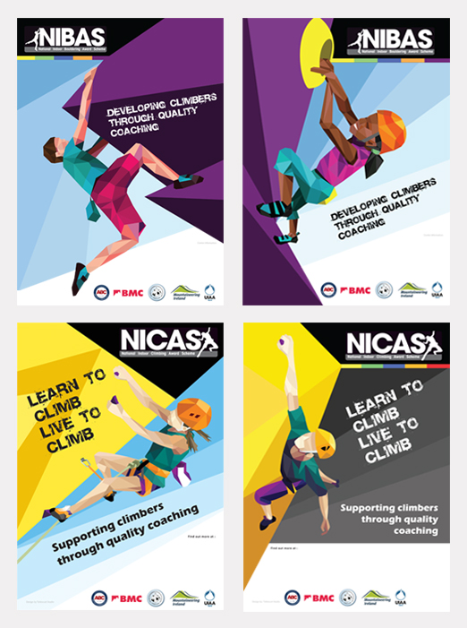 Designed and created for the National Indoor Climbing Award scheme.