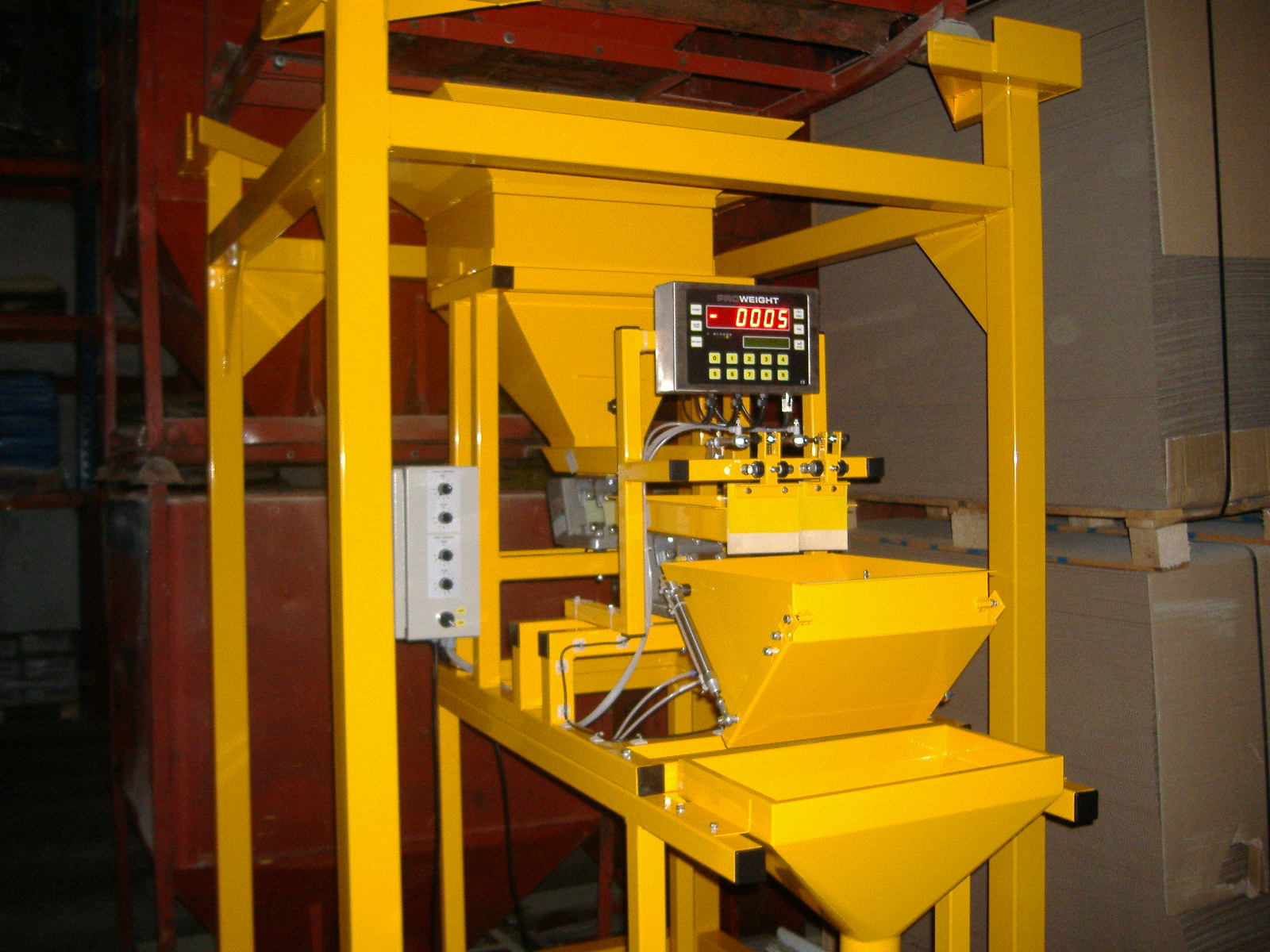 Proweight Automatic Batch Weigher with custom framework.