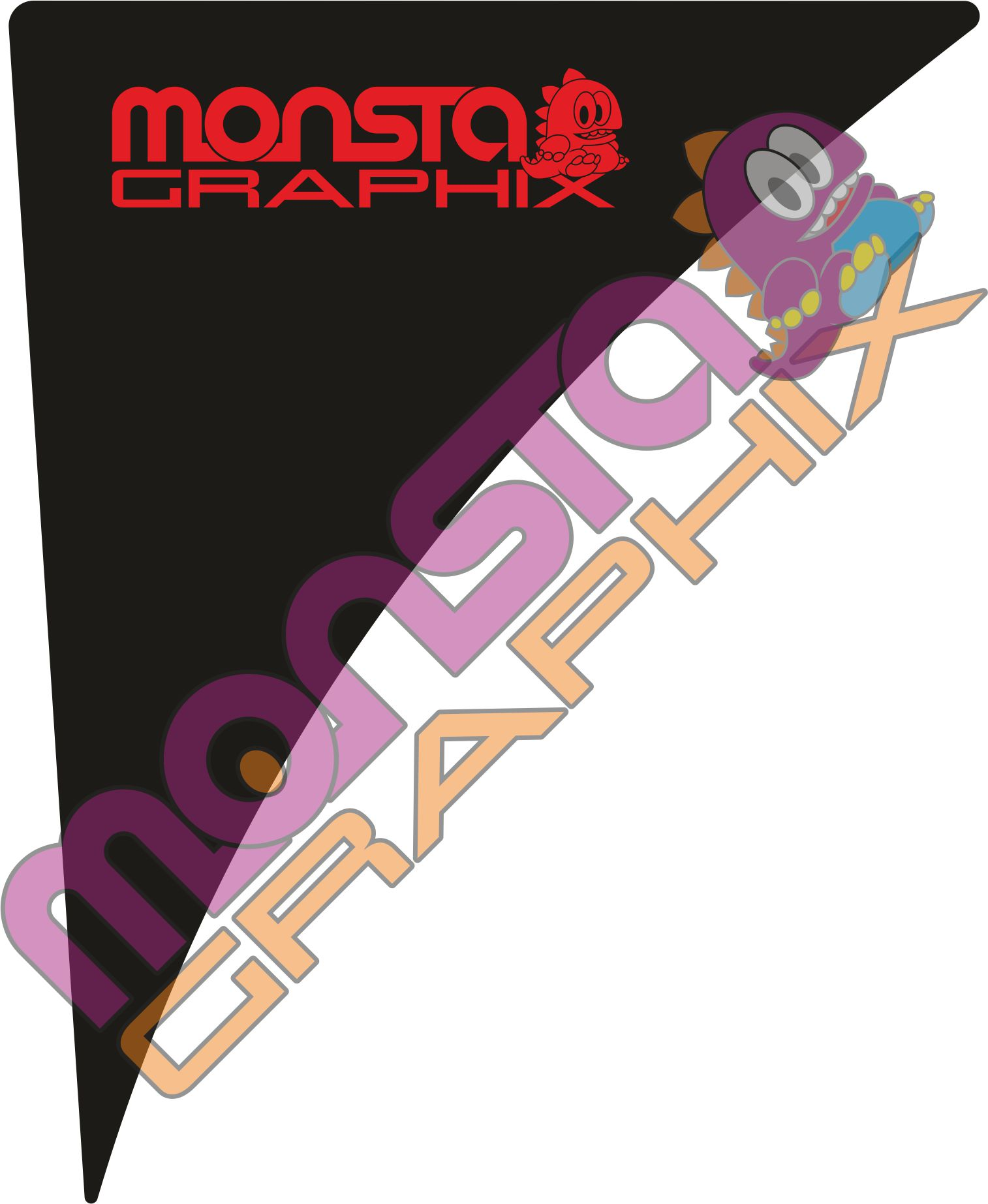 Fiesta Mk7/7.5 Side wing Gel Badge Monsta Graphix Logo - Black