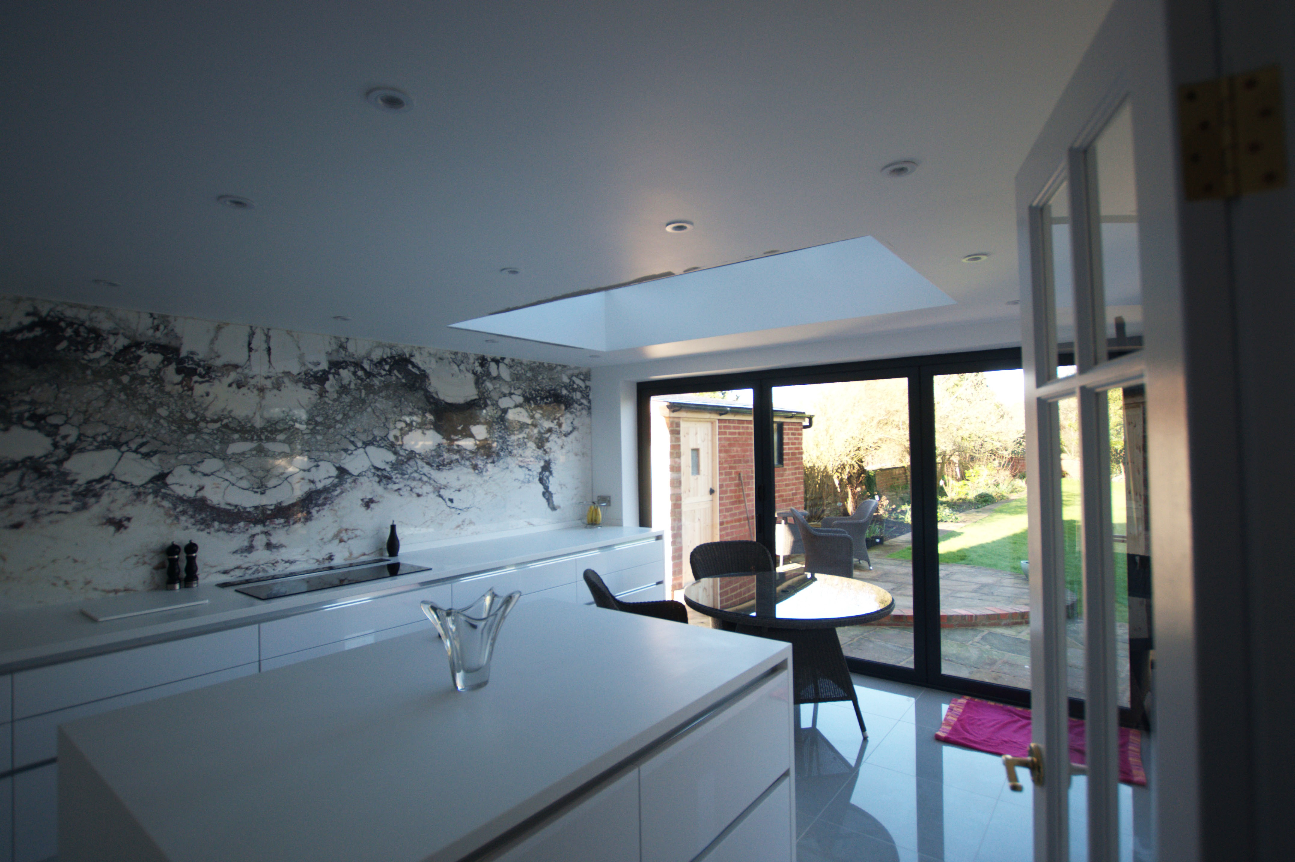Extended kitchen with roof lantern