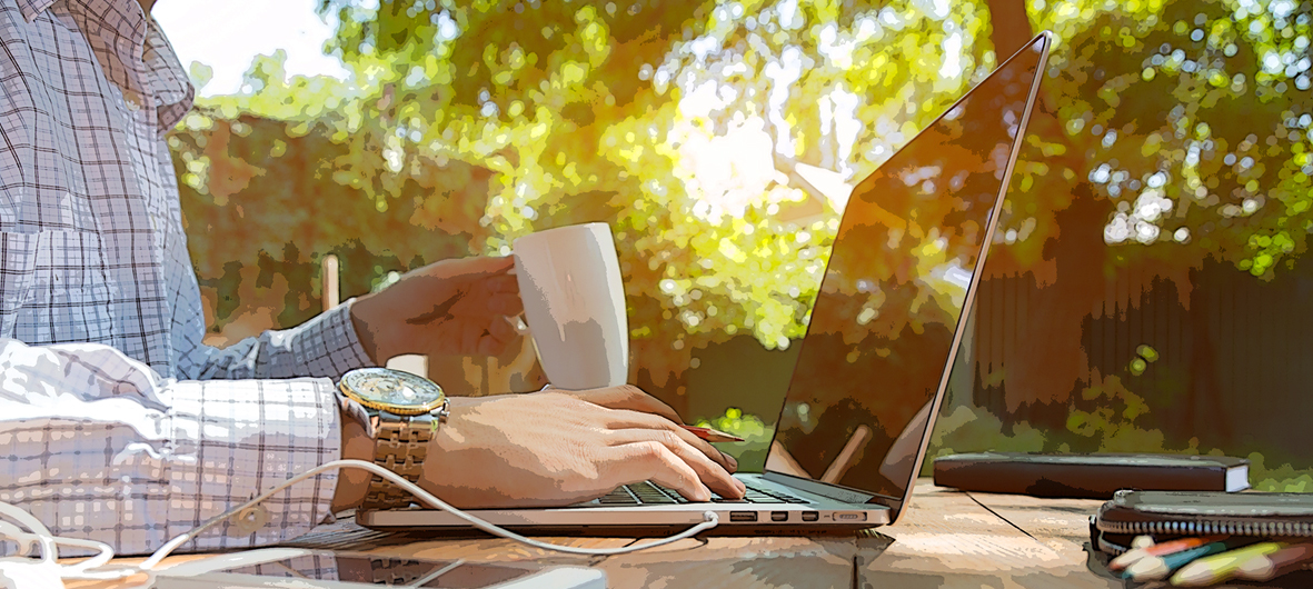 Relaxed outdoor work and meeting space in gardens Faraday House Eastbourne East Sussex BN22 9BH